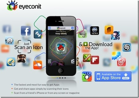 "Download apps to your iPhone by scanning logos/icons | ""#Google+, +1, Facebook, Twitter, Scoop, Foursquare, Empire Avenue, Klout and more"" 