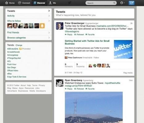 Twitter renueva la pestaña Descubre llevando streaming de tweets y Twitter Cards | TIC JSL | Scoop.it