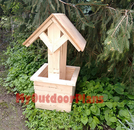 How to Build a Wishing Well Planter | Free Outdoor Plans - DIY Shed, Wooden Playhouse, Bbq, Woodworking Projects | Garden Plans | Scoop.it