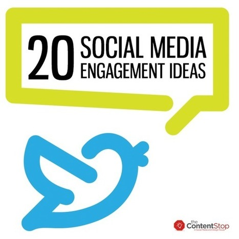 20 Social Media Engagement Ideas | An Eye on New Media | Scoop.it
