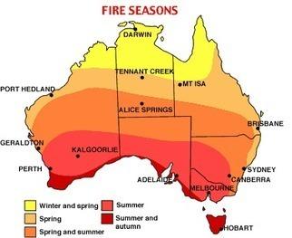 Australian Fire Seasons   Special Purpose Maps   Scoop.it