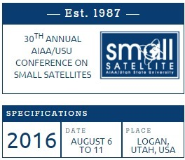 30th Annual AIAA/USU Small Satellite Conference; August 6th - 11th in Logan, UT. | Space Conference News | Scoop.it