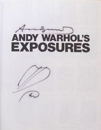Andy Warhol Exposures Book Signed & Sketch, basquiat koons picasso eames | Artoy | Scoop.it