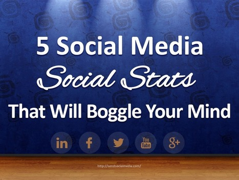 5 Social Media Social Stats That Will Boggle Your Mind   Social Media How To   Scoop.it