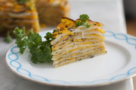 Layered vegan vegetable tart delivers big flavors | My Vegan recipes | Scoop.it