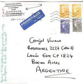 Arte Correo Para el Mundo: Mail Art desde FRANCIA. Gracias ... | VIM | Scoop.it