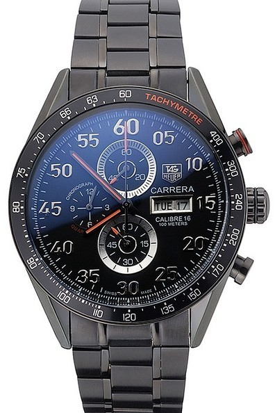 Replica Tag Heuer Carrera Ion Plated Stainless Steel Bracelet Black Dial-$245.00 | Men's & Women's Replica Watches Collection Online | Scoop.it