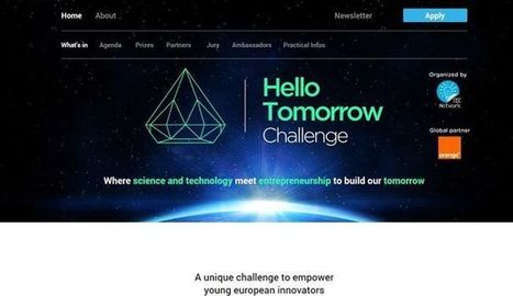 Hello Tomorrow Challenge: le concours européen | Start-up, Grow-up | Scoop.it