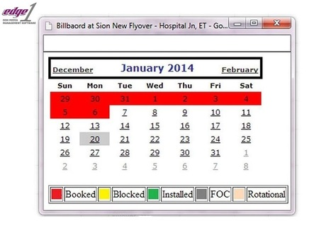 Do you know in which period your site is Booked, Blocked, FOC or Rotational? | Outdoor Advertising Software | Scoop.it
