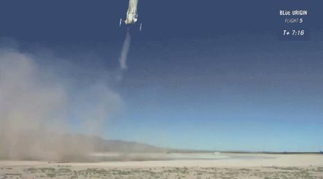 Blue Origin Shocks Everyone (Even Itself) by Landing Rocket During Launch Escape Test | Heron | Scoop.it