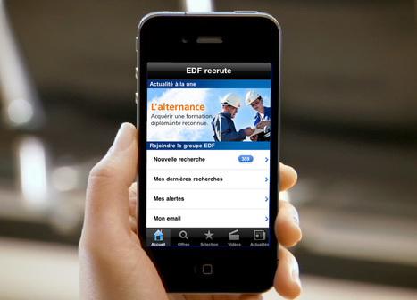 """L'application """"EDF recrute"""" pour iPhone est disponible !   Le groupe EDF   Scoop.it"""