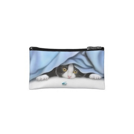 Curious Tuxedo Kitten Bagettes Bag Makeup Bags from Zazzle.com | Messenger Bags, Purses & Totes | Scoop.it