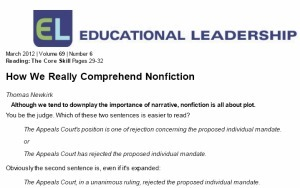 How We Really Comprehend Nonfiction | EdTech Footenotes | Scoop.it