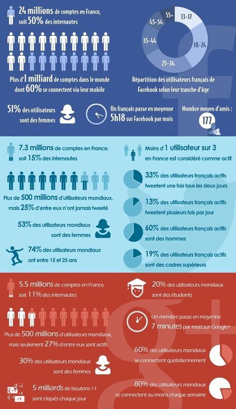 Statistiques sur Facebook, Twitter et Google+ | TPE-PME | Scoop.it
