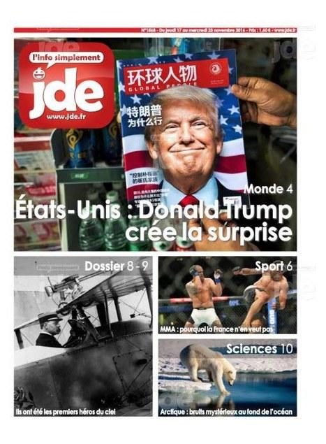 Journal des enfants JDE n°1568 du 17 au 23 novembre 2016 | PRESSE au CDI : c'est le Bouquet ! Collège Le Verger | Scoop.it