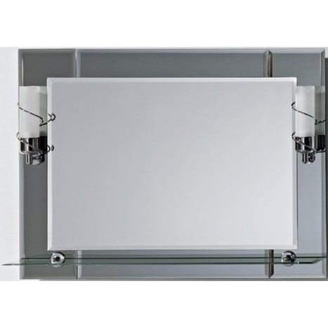 Illuminated bathroom mirror with shelf 60cm x 80 cm Classic - Bargains Zone | Illuminated mirrors | Scoop.it