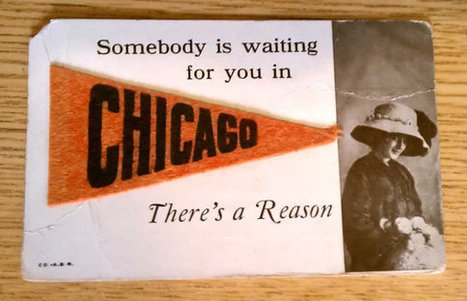 Antique Saucy Novelty Chicago Postcard with Miniature Pennant Souvenir Divided Back | Antiques & Vintage Collectibles | Scoop.it