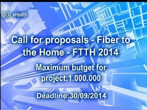 Call for proposals - Fiber to the Home - FTTH 2014 | social media useful  tools | Scoop.it