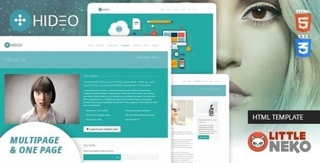 Hideo HTML5 Bootstrap 3 Responsive Website Template | Free Themes Premium | Scoop.it