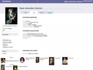 La page Facebook de Marie-Antoinette | L'ÉCOLE DE DEMAIN | L'usage du numérique dans l'enseignement supérieur | Scoop.it