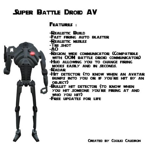 Super Battle Droid Avatar by CC Factory   Teleport Hub   Second Life Freebies   Scoop.it