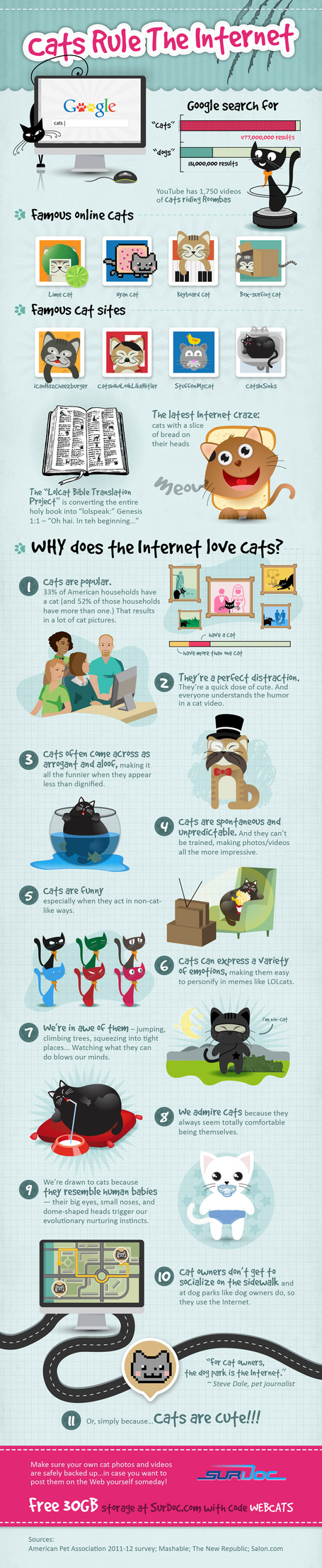 How Cats Rule the Web [INFOGRAPHIC] | MarketingHits | Scoop.it