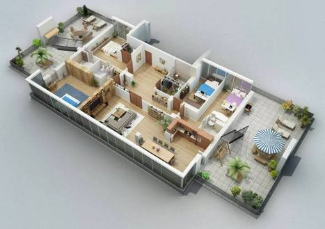 Apartment Designs 3D Floor Plans by Shako & Dmitriy | Optimal Architectural Solutions | Scoop.it