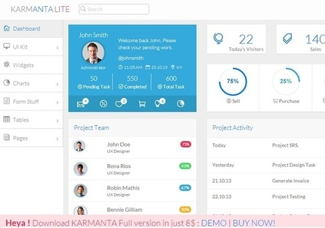 Karmanta Lite – Free Bootstrap Admin Template Download | Best Website Theme & Admin Panel | Scoop.it