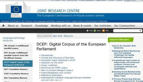 New large-scale multilingual parallel corpus online (DCEP) | terminology news | Scoop.it