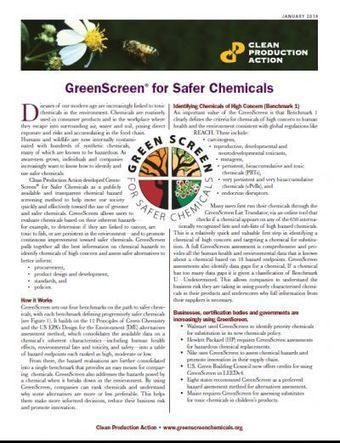 GreenScreen Overview | Resources | GreenScreen® For Safer Chemicals | Sustainability resources for smart business | Scoop.it