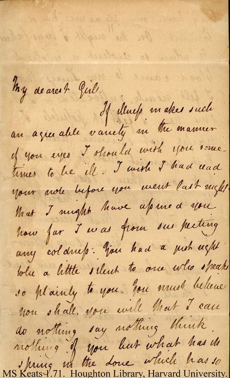 Keats to Fanny | Pens, Paper, Ink and Letters | Scoop.it