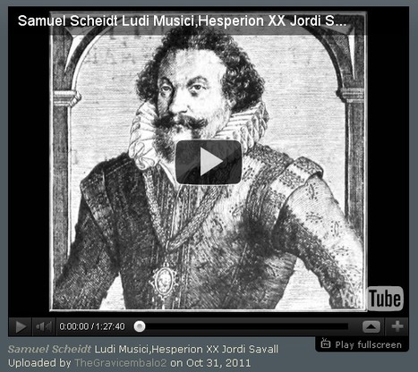 Samuel Scheidt (1584 -1654) - Ludi Musici | offene Ablage: nothing to hide | manually by oAnth - from its scoop.it contacts | Scoop.it