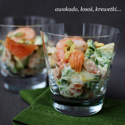 SAŁATKA Z AWOKADO, ŁOSOSIA I KREWETEK | Kulinaria | Scoop.it