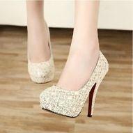 women high-heel toe thin heels stripe vintage shoes wedding pumps Beiges size5.5 | fashion shoes | Scoop.it