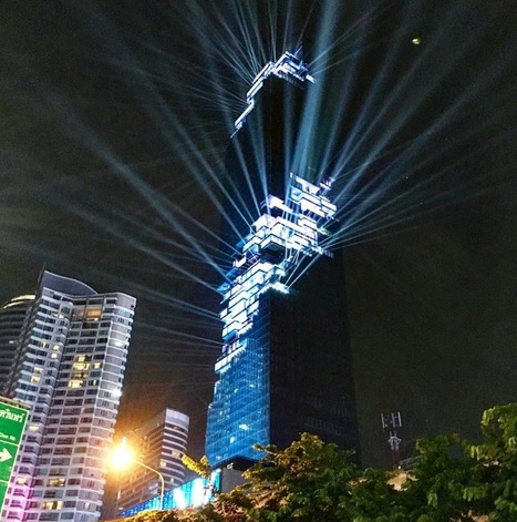 Thailand's TALLEST Building, Designed by Büro Ole Scheeren, Opens with Light Show | The Architecture of the City | Scoop.it