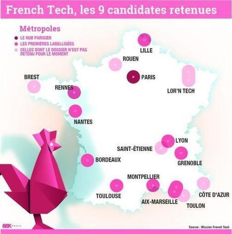 Neuf métropoles labellisées French Tech | Actualité des start-ups et de l' Entrepreneuriat sur le Web | Scoop.it