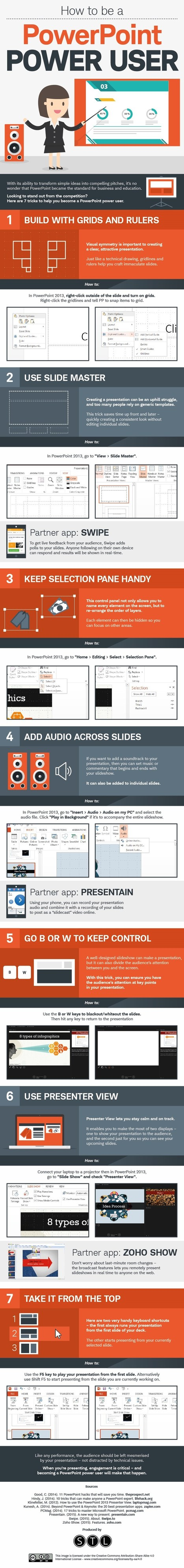 Tech It Up Tuesday: How to be a PowerPoint Power User Infographic | Moodle and Web 2.0 | Scoop.it