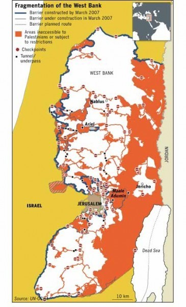 Representing the West Bank: A note on maps « The Berkeley Blog | Cartography | Scoop.it