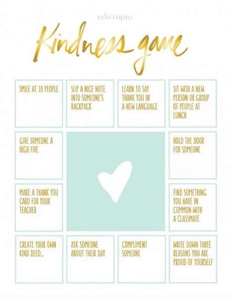 """The """"Kindness Game"""" Activity 