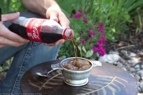 WATCH: How To Make Soda Freeze Itself Instantly | Strange days indeed... | Scoop.it