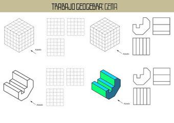 Dibujo Técnico 1º Bach.: TRABAJO DE VISTAS E ISOMETRÍA CON GEOGEBRA ( primeros resultados) | Dibujo técnico | Scoop.it