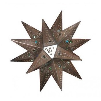 Tin Star With Marbles Natural, Electrified | southwestern lighting | Scoop.it