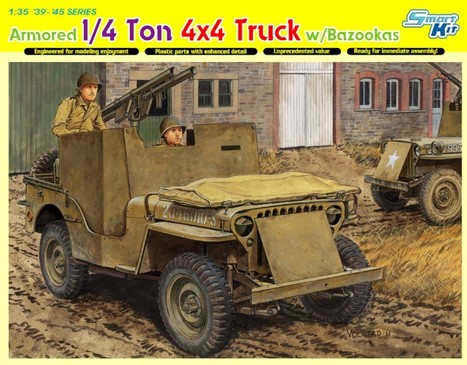 Armored 1/4 Ton 4×4 Truck w/Bazooka – DML 6748 | History Around the Net | Scoop.it