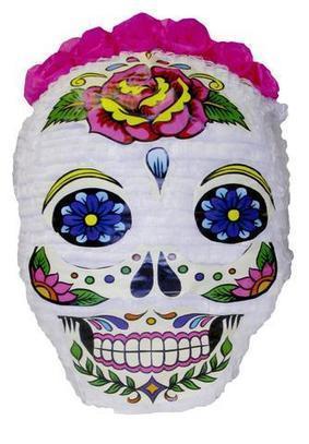 Medium Day of the Dead White Skull Pinata | Pinatas | Scoop.it