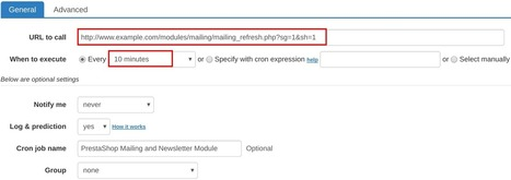 How to set up cron job for PrestaShop Mailing and Newsletter Module | How to set cron jobs | Scoop.it