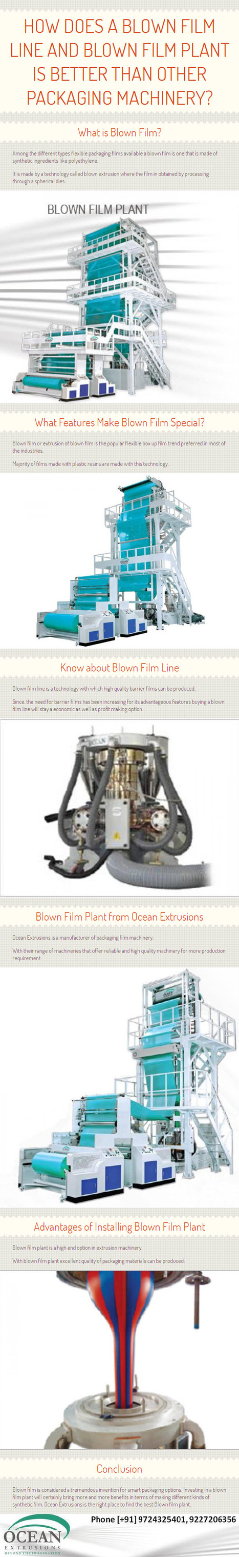 How does a Blown Film Line and Blown Film Plant is Better than other Packaging Machinery? – by www.oceanextrusions.com | oceanextrusions | Scoop.it