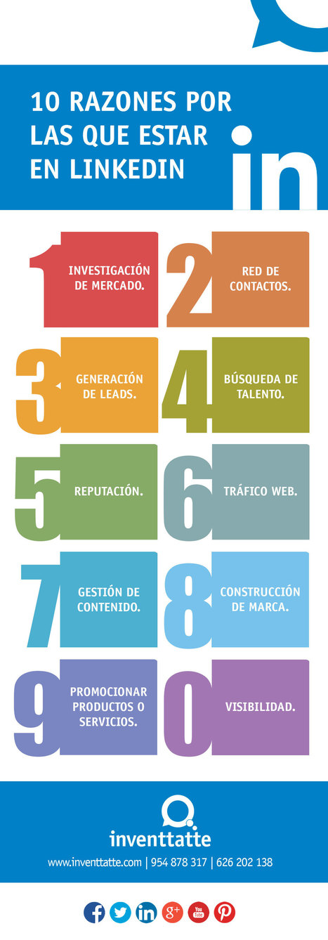 10 razones por las que estar en LinkedIn | Valientes y Emprendedores | Scoop.it