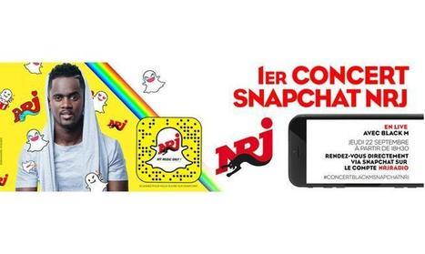 NRJ organise un concert de Black M en direct sur Snapchat aujourd'hui à 18h30 | Offremedia | Radio 2.0 (En & Fr) | Scoop.it