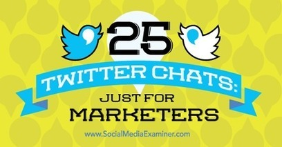25 Twitter Chats: Just for Marketers | Advertising, I say | Scoop.it