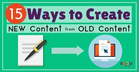 15+ Ways to Create New Content from Old Content | Marketing with Social Media | Scoop.it